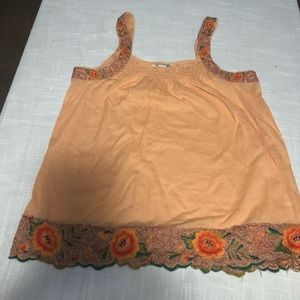 Lucky Brand Beautiful Embroided Tank